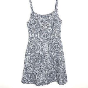Prana black white geometric athletic dress Size M